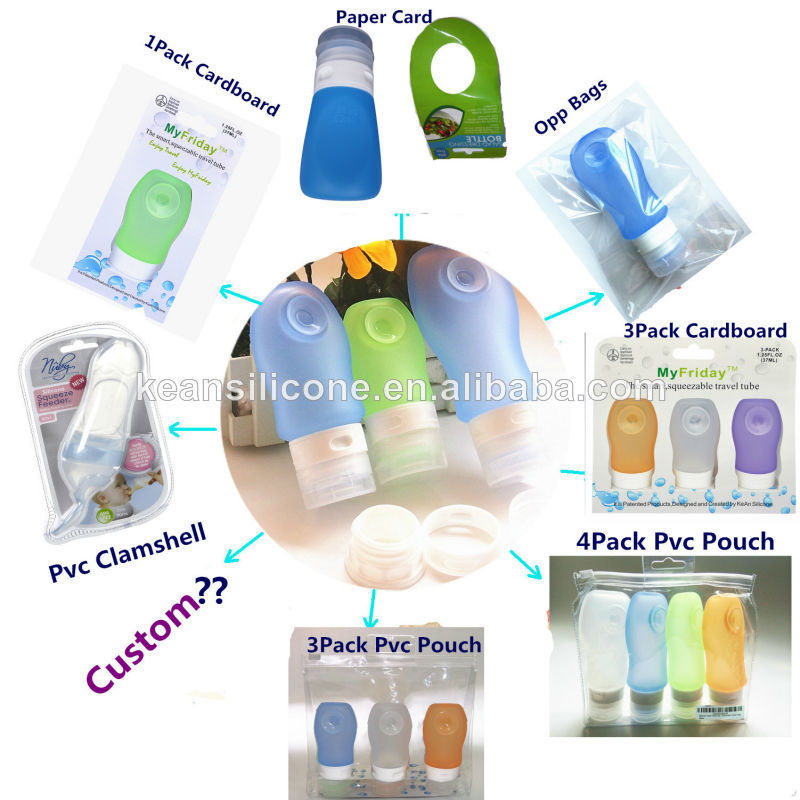 Body Lotion Bottle Airplane Carry On Squeeze Silicone