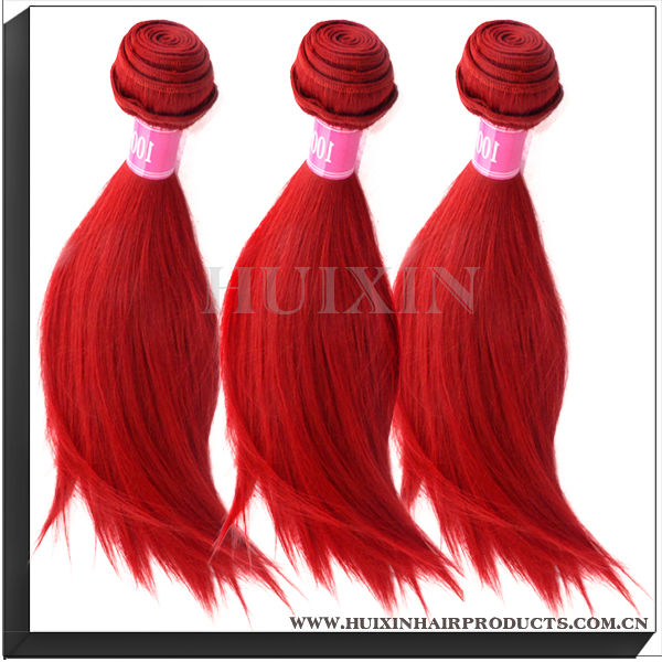 Red Color Fancy& Sassy Hair, Wholesale Virgin Malaysian Hair