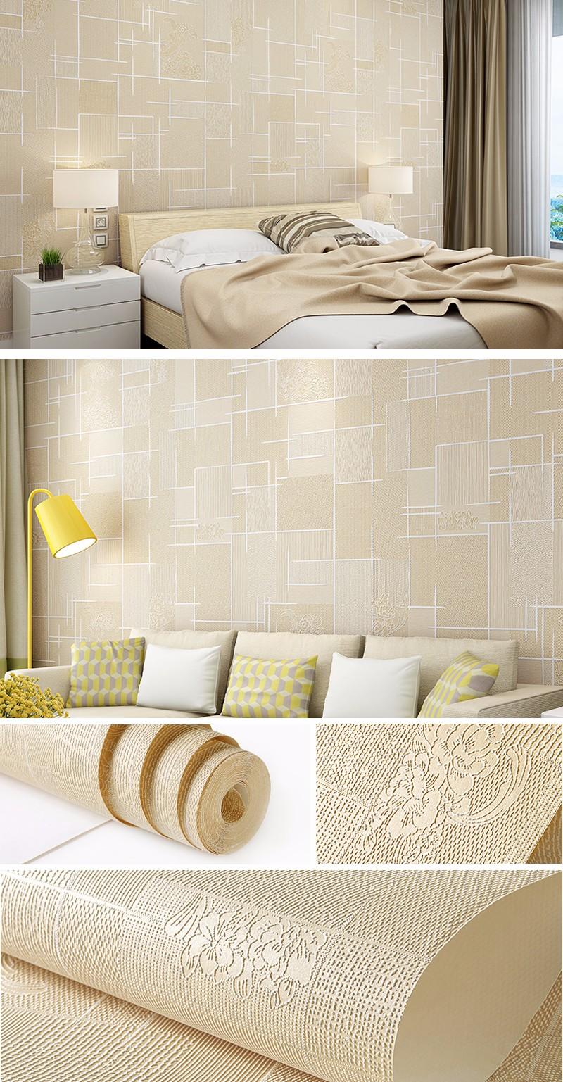 Modern Simples Textura Do Efeito 3d Papel De Parede Em Relevo Rolo  -> Parede Sala Listrada