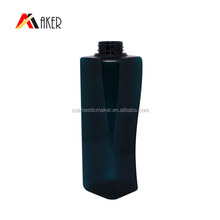 Customized square shape 500 ml pet bottle cosmetic packaging