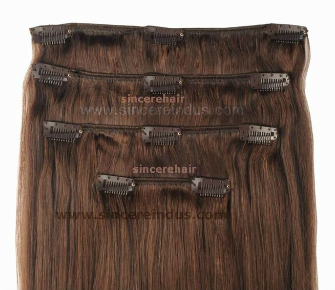 Clip in Hair Extensions, Clip on Hair Weft, 100% Human Hair