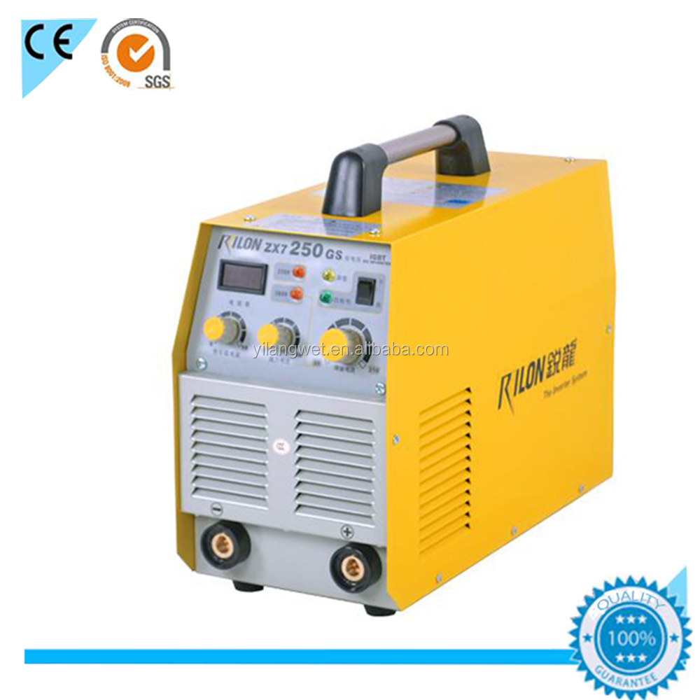 china supplier double voltage arc 250 mosfet inverter welding machine