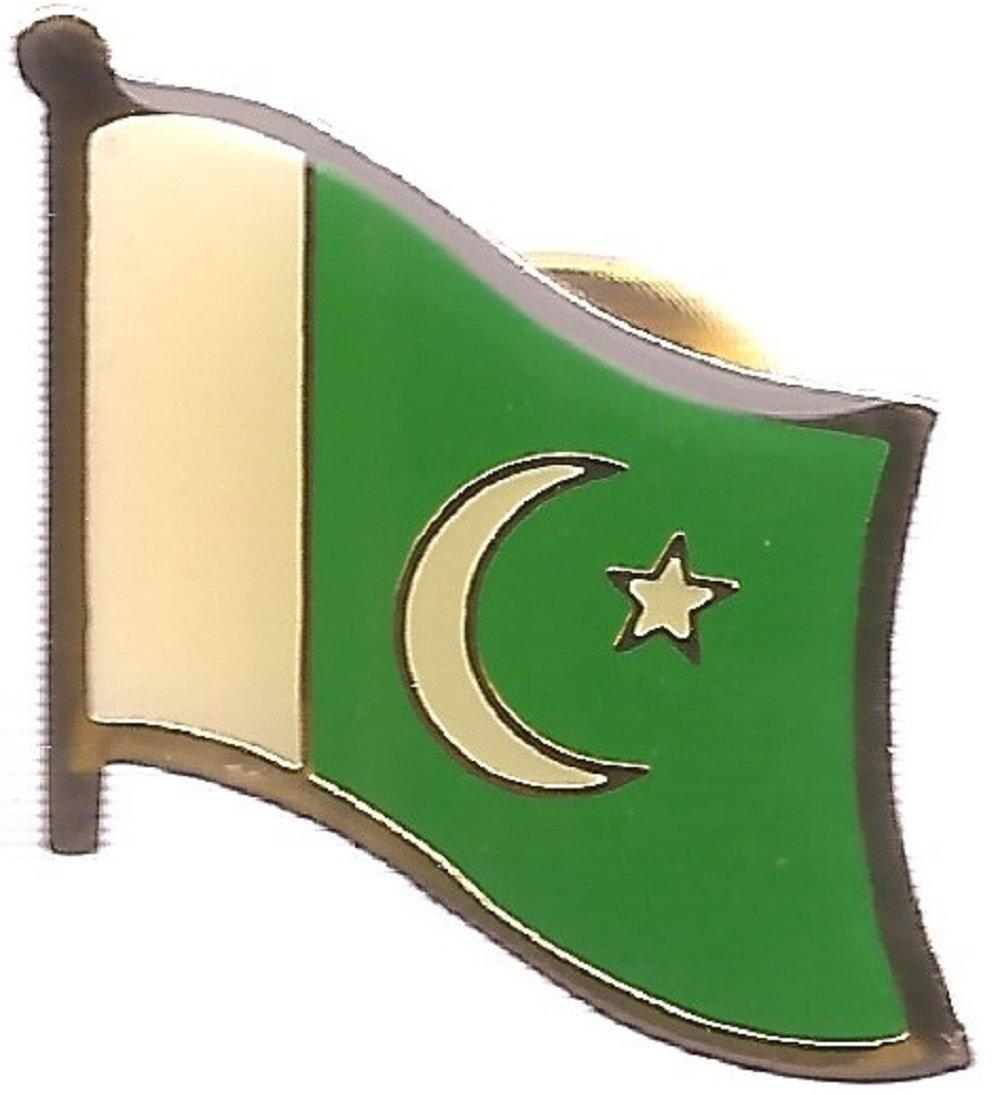 97ae0447b5 Get Quotations · BOX of 12 Pakistan Single Flag Lapel Pins, Pakistani  Single Flag Pin Badges