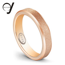 4mm Sandblast Sparkle Miring Ujung Rose Gold Tungsten Carbide Wedding Ring