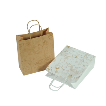 Fashion Printed Gift Customize Kraft Takeaway Paper Bag