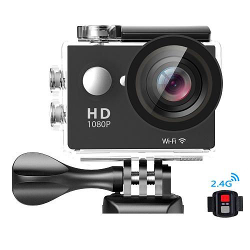 HD 1080 P 30fps 4 k Eylem Kamera W9R Dahili WIFI Uzaktan Kumanda Ile Mini Araba Kameralar 30 metre Su Geçirmez TF Kart Yuvası