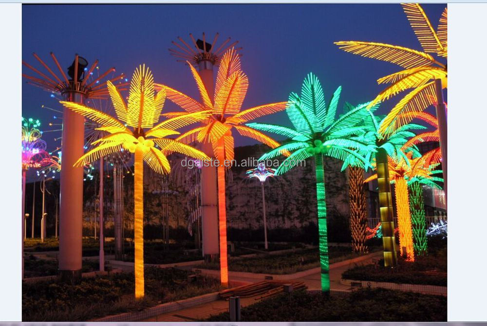 16 5ft Height Outdoor Artificial Green Flashing Led Solar