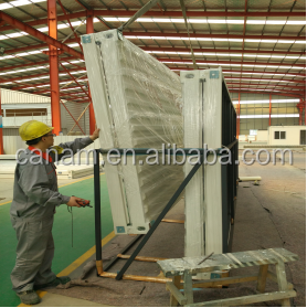 Cheap and strong construction steel prefabricated house by eps sandwich panel