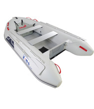 CE certification aluminium inflatable pontoon with PVC fishing boat for sale