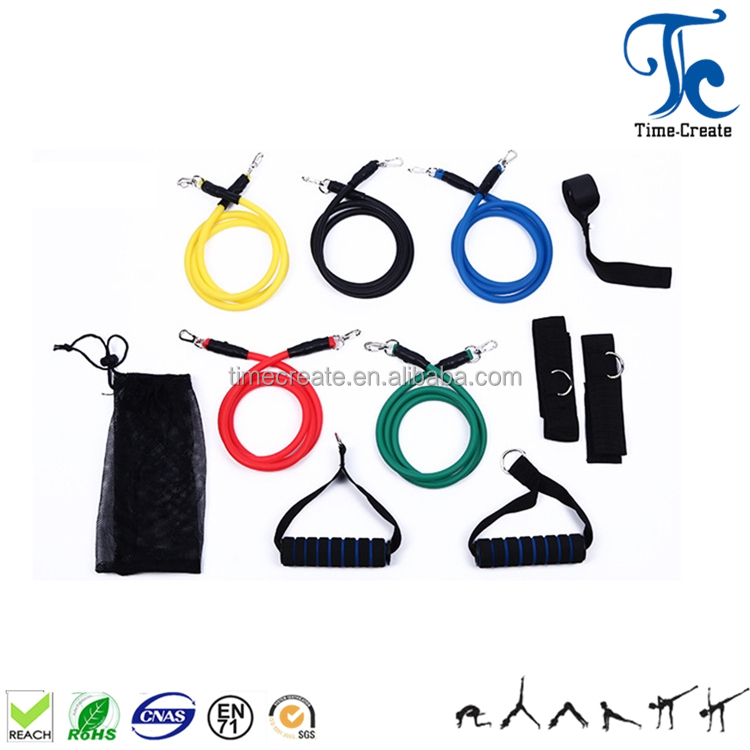 Home Gym Workout Top selling Exercise Fitness 11pcs Resistance Bands Tube Set