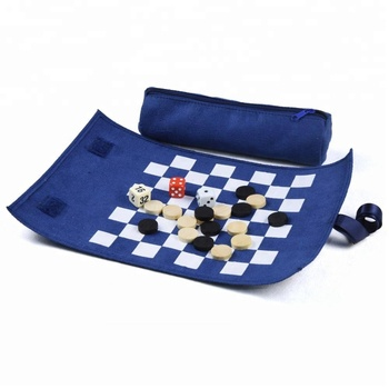 Wholesale Portable Travel Roll Up Leather Backgammon Set