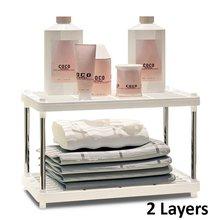 Многофункциональная Пластиковая Полка для хранения Magic Union 2/3/4, полка для кухни/ванной/гостиной, напольная полка(Китай)