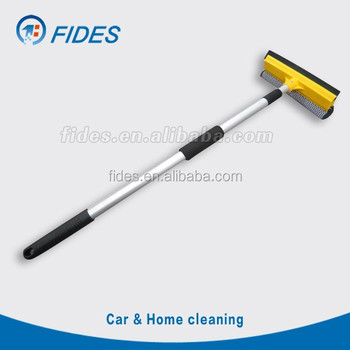 rubber sponge wiper aluminum extended long handle window squeegee