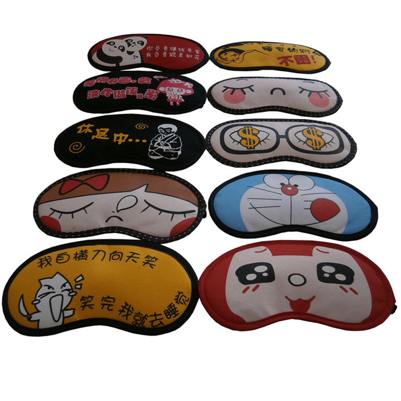 comfortable travelling airline face mask with eye shield/ sleeping eye mask with satin