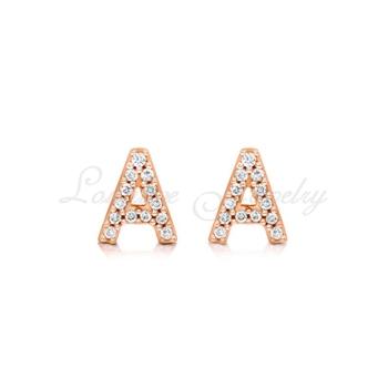 925 Silver Jewelry Letter A Earring