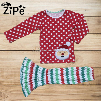 kids wear printing design winter boutique outfits clothing 2018 fashion baby girl christmas outfit