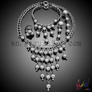 silver beads jewelry set/ belly dance jewelry set/ fashion jewelry