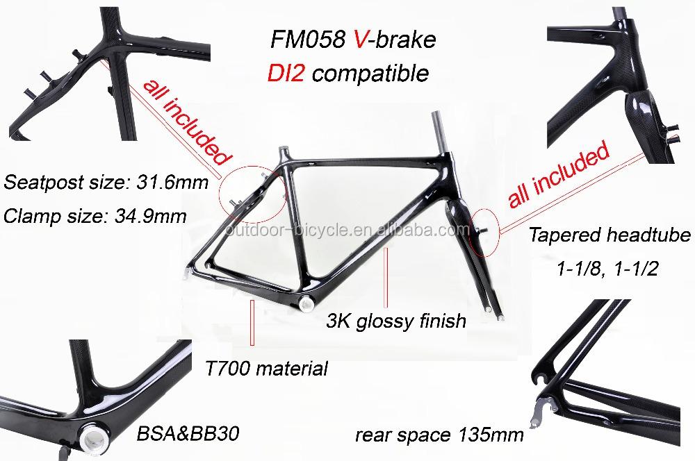 Bicicleta De Cuadros De Carbono De China Marco De Ciclocross Fm058 ...