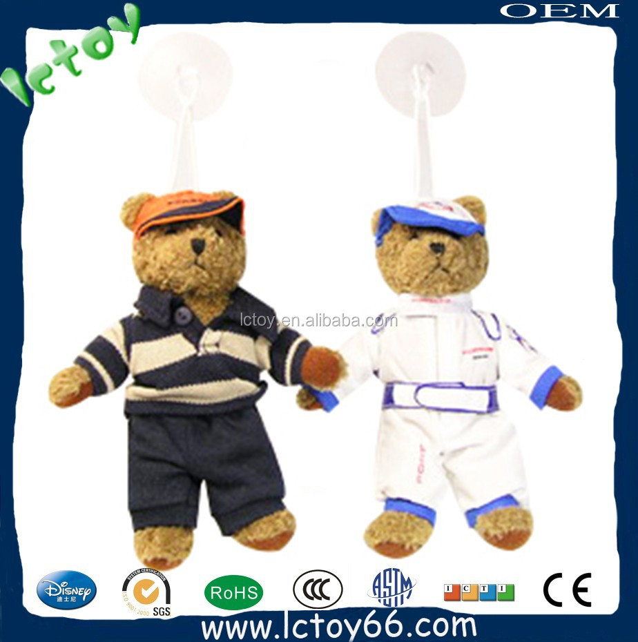 High quality mini car hanging ornament of teddy bear