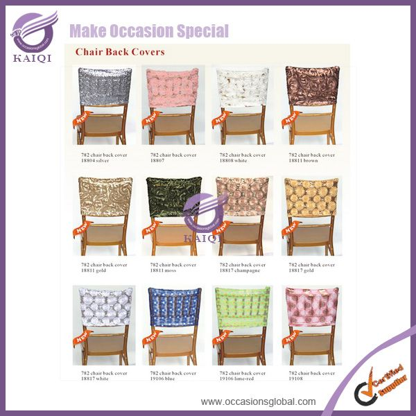 K05600 Whole New Design Sequin Caps Blush Wedding Chair Cover