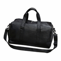PU Leather Overnight Travel Duffel Sports Gym Bag for Men