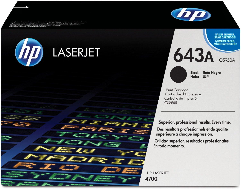HP 643A (Q5950A) Black Original Toner Cartridge for HP LaserJet 4700