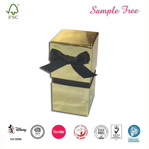 Luxury Candle Packaging Gift Box With Ribbon
