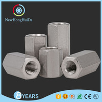 Din6334 Aluminum/Stainless Steel/Zinc Plated/ Carbon Female Hex Coupling Nuts,Long Spacer Nut