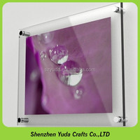 Wholesale poster frame holder clear wall mounted acrylic photo frame