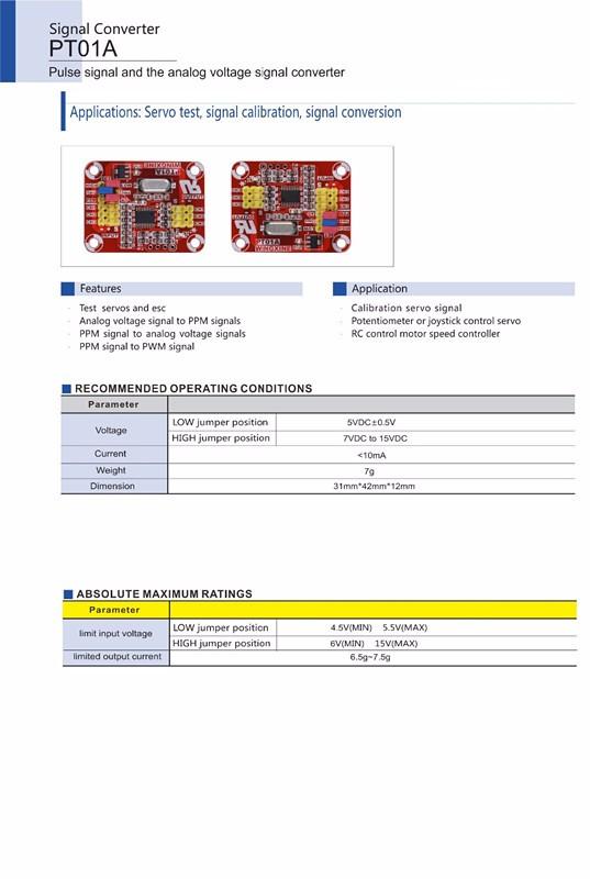 Multifunction Servo Pulse Signal//Analog Voltage//PWM Signal Conversion Converter