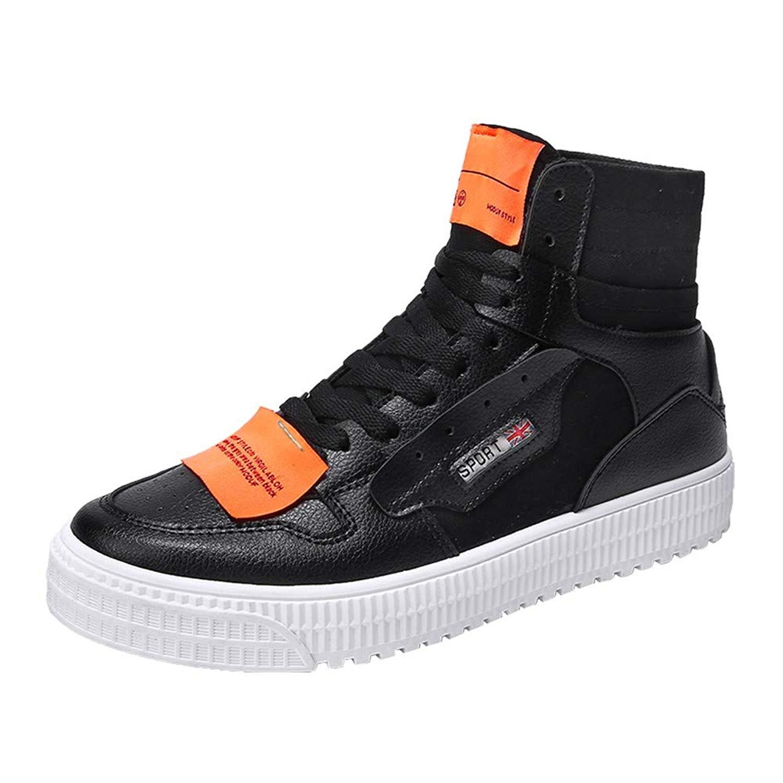 Caopixx Shoes for Men Casual Shoes High-top Flat Sports Sneakers Canvas Shoes Men's Shoes