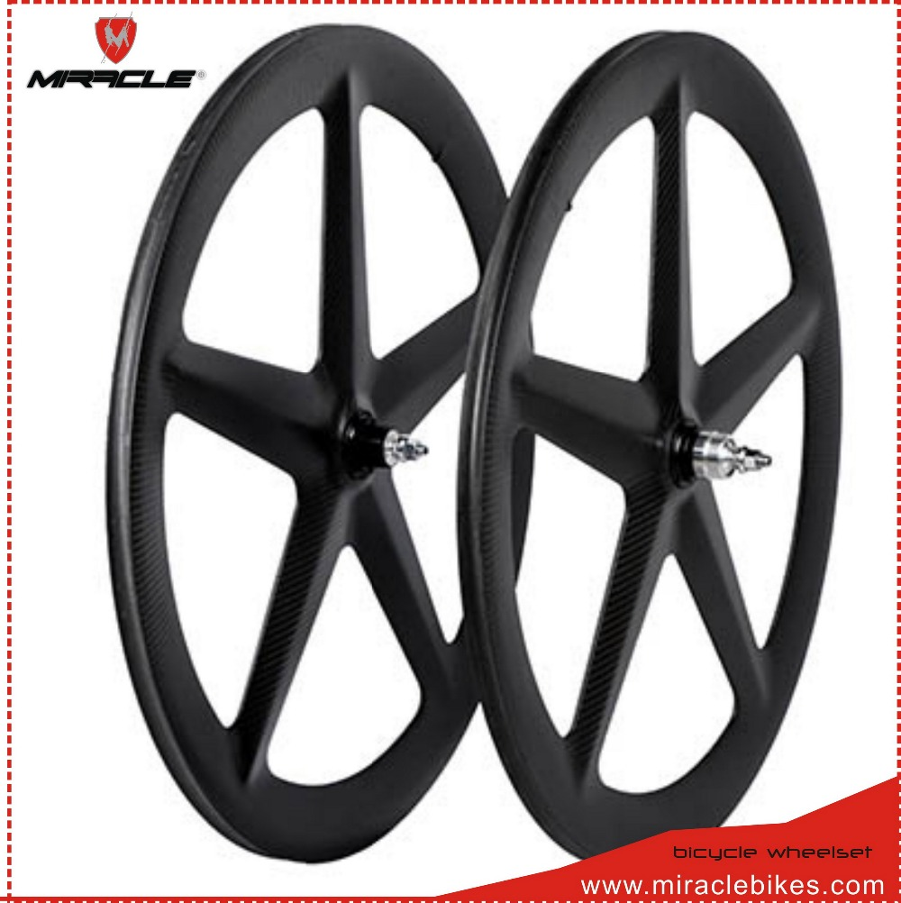 Carbon Wheels For Track Bicycle Triathlon Bikes Fixed Gear Carbon