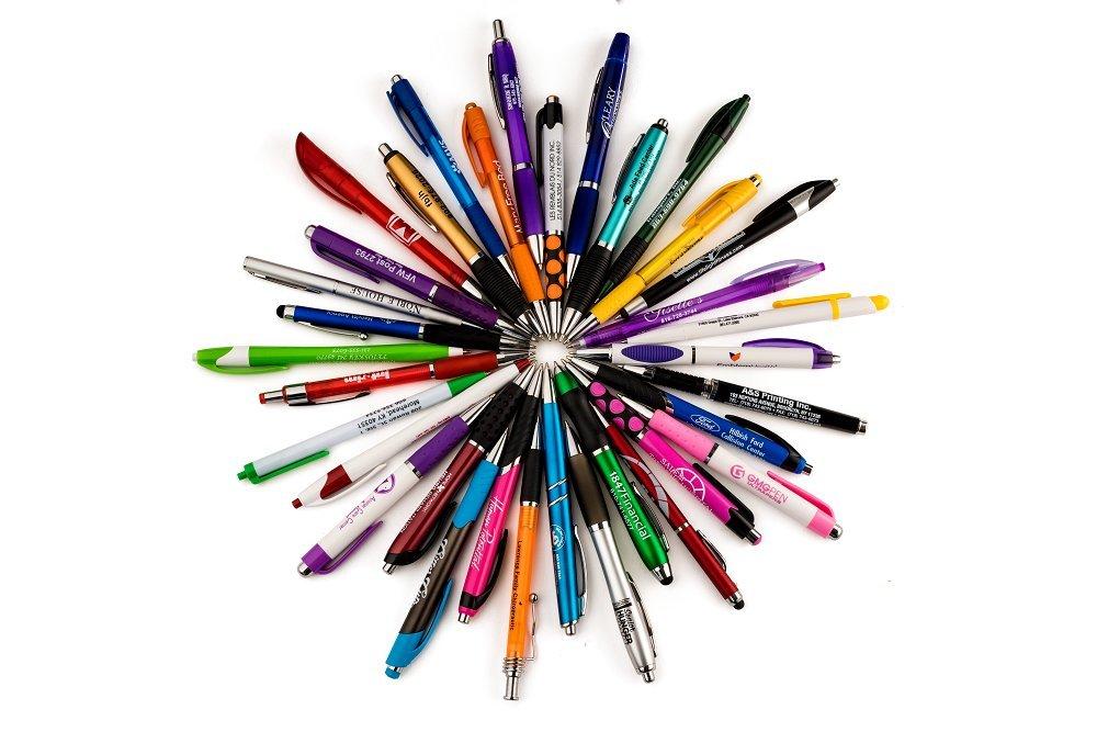 FARRYS BULK WHOLESALE Lot Misprint Ink Pens, Ball Point, Plastic, Retractable 25,50,100,250,500 PACK (100)