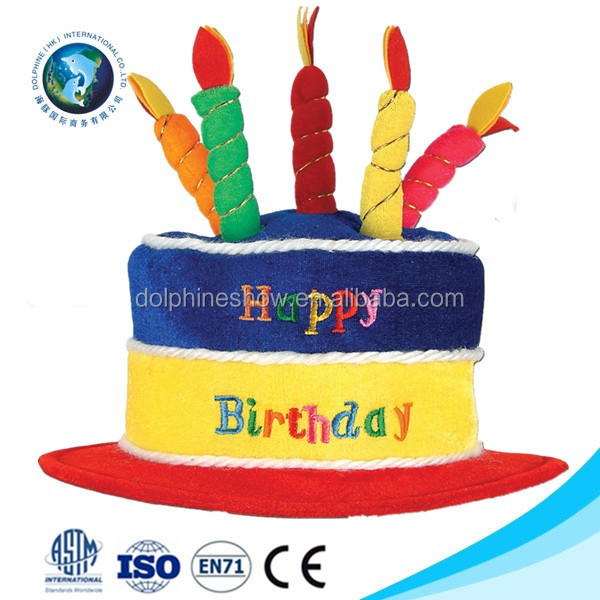 Newest Birthday Party Decoration Gift Cute Cake Shaped Birthday Hat