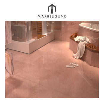 Poetical Master Bathroom Exotic Ideas Pink Marble Floor Tile