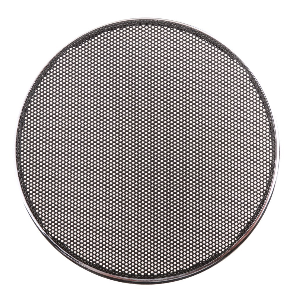 MagiDeal 6.5 Inch Speaker Grills Cover Case with 4 pcs Screws for Speaker Mounting Home Audio DIY 184mm Outer Diameter Black