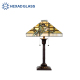 HEXAD Stained Glass Tiffany Style Floor Lamp with accessories