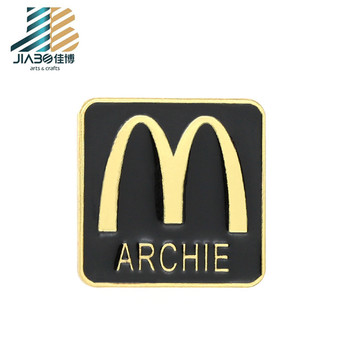 custom souvenir soft enamel badge zinc alloy material emblem food shop