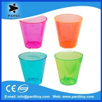 2015 Assorted colored neon disposable 1oz plastic shot glass cup for party