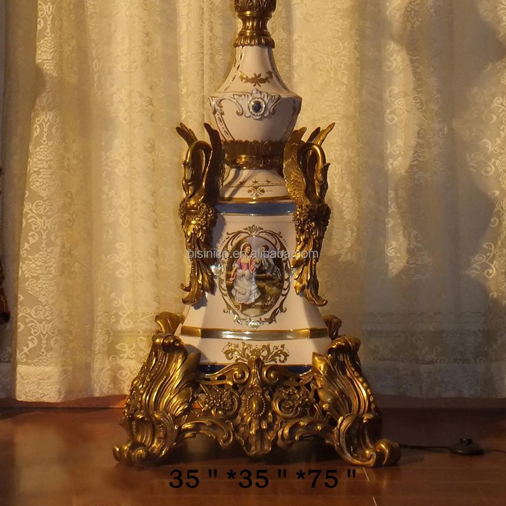 Luxury Baroque Style Porcelain Home Decorative Floor Lamp