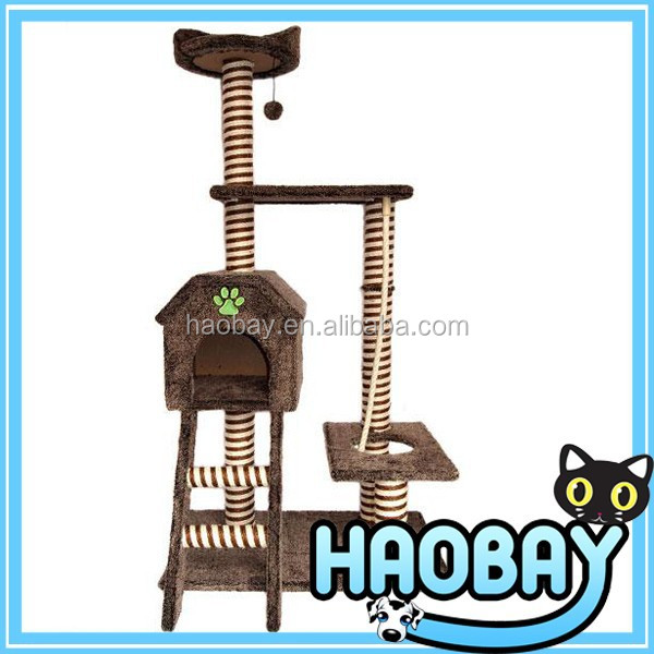 2015 New Double Sisal Cat Scratching Tree House