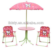 Hello Kitty Man kids patio set/ kids outdoor furniture/table and chairs set