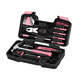 pink tool kit 39pcs ladies tool set women tool boxes home use easy carry