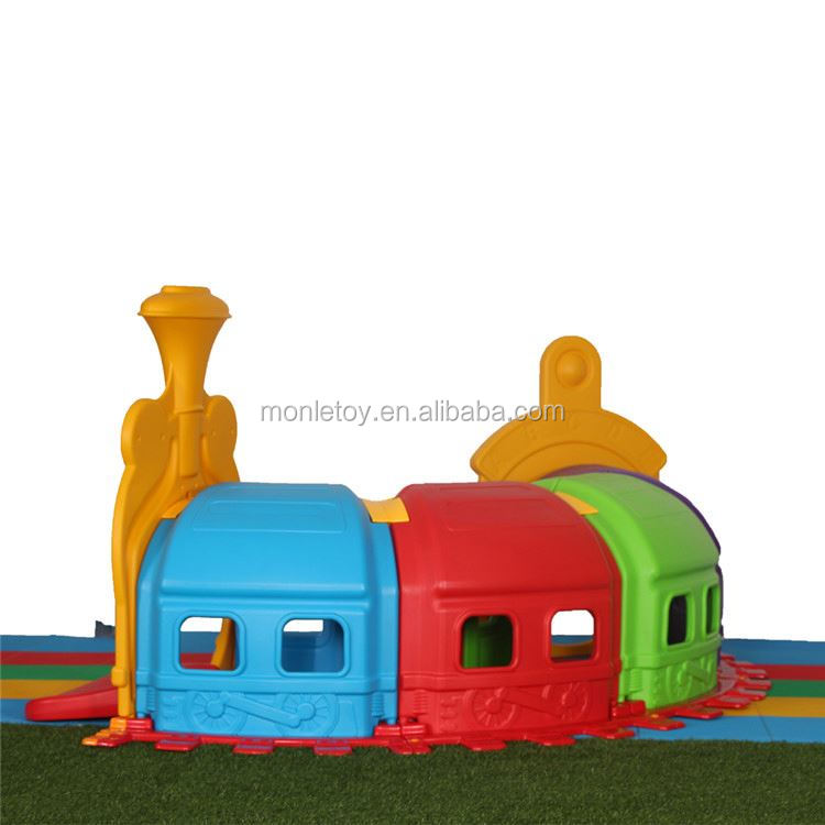 2017 Hot sale plastic happy game railway theme good quality train kids tunnel toys