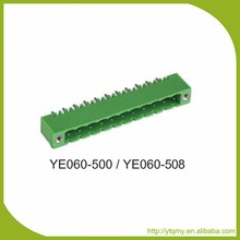 Super Quality of YE060-500 Green PCB Mount Terminal Block 300V 10A Pitch 5.00mm Single Deck Terminal Block Connector