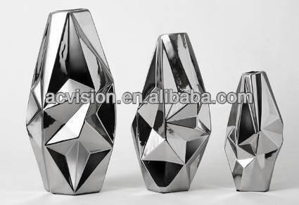Modern Chrome Silver Vase Ceramicceramic Silver Vase Buy Modern