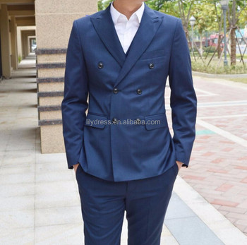 Business Men Suits Wedding Suits Double Breasted Classic Groom Suit ...