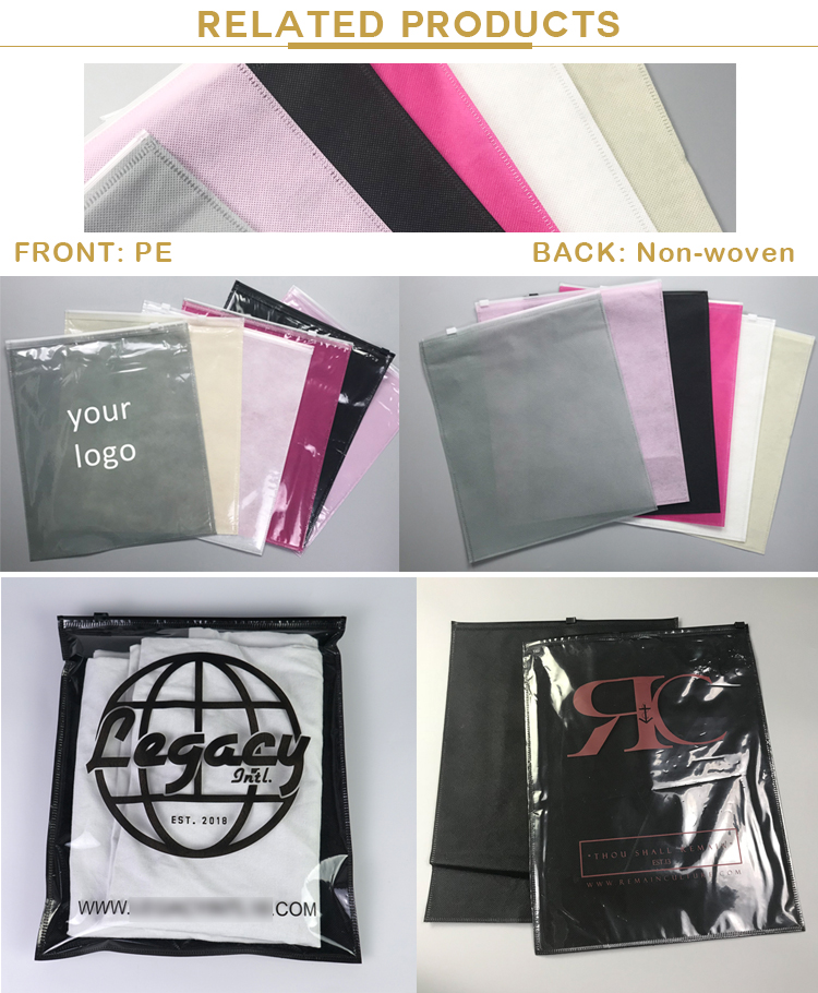 Double-sided frosted bag large-sized ziplock bag wholesale garment zipper bag thickenedfor