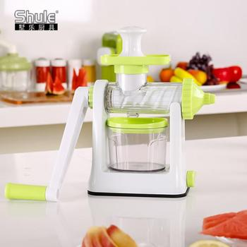 Portable New Hand Operated Plastic Fruit Juicer