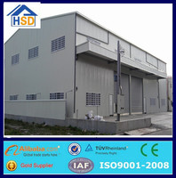 cheap prefab steel structure two story building warehouse workshop